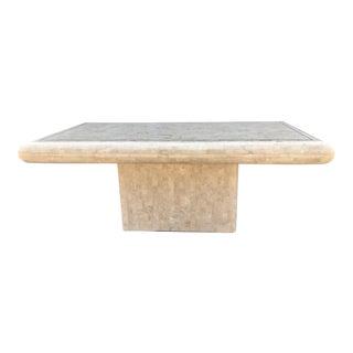 Maitland-Smith Tessellated Bone & Brass Dining Table