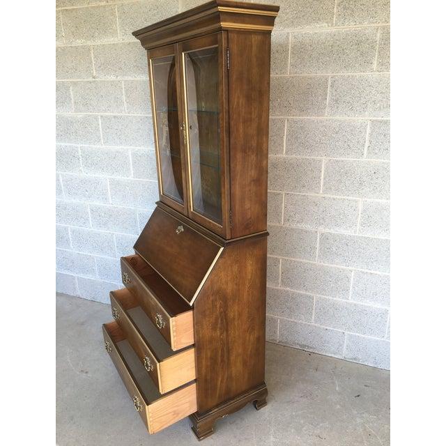 Jasper Furniture Lighted Maple Secretary Desk - Image 3 of 11