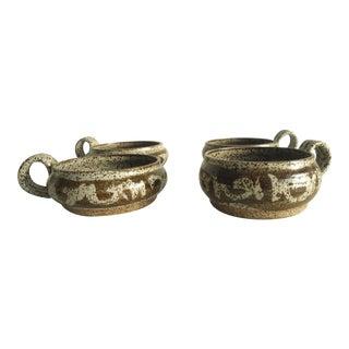 Studio Pottery Handled Bowls- Set of 4