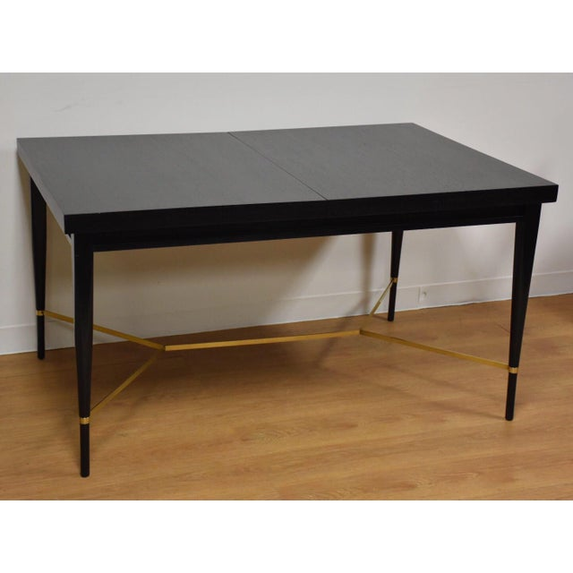 Black and Brass Dining Table by Paul McCobb - Image 7 of 10