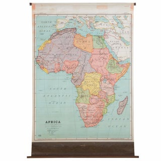 Antique Nystrom Pull Down Map of Africa
