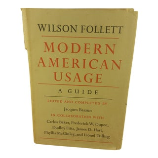 """Modern American Usage"" 1966 First Edition Book"