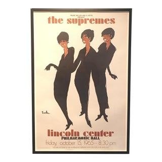 """1960s """"The Supremes at Lincoln Center"""" Poster"""