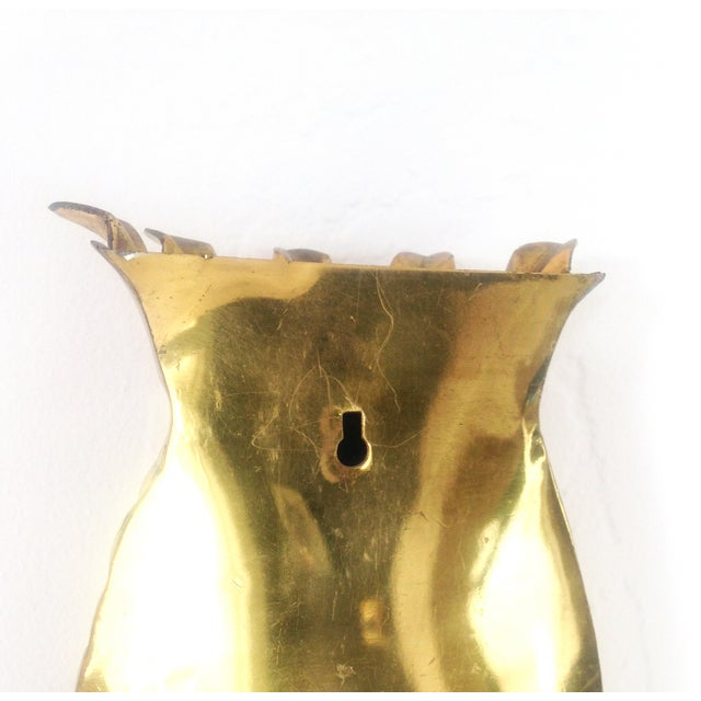 Image of Vintage Brass Pineapple Wall Pocket