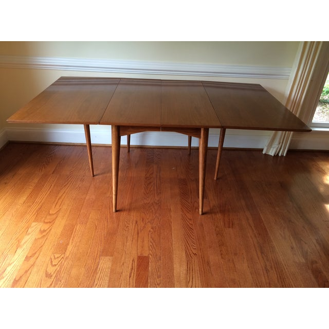 Mid-Century Expandable Drop Leaf Dining Table - Image 2 of 9