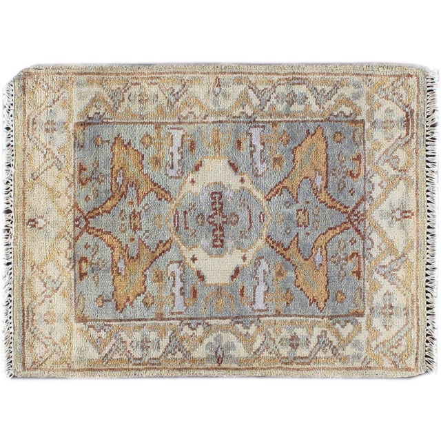 Image of Apadana - Blue & Tan Oushak Rug - 2' x 3'