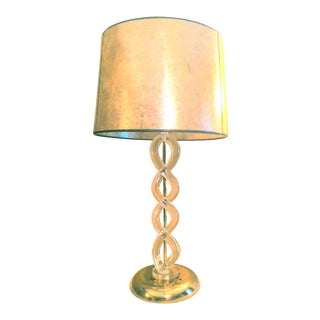Mid-Century Modern Lucite Helix Table Lamp