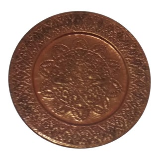 Hanging Etched Copper Plate