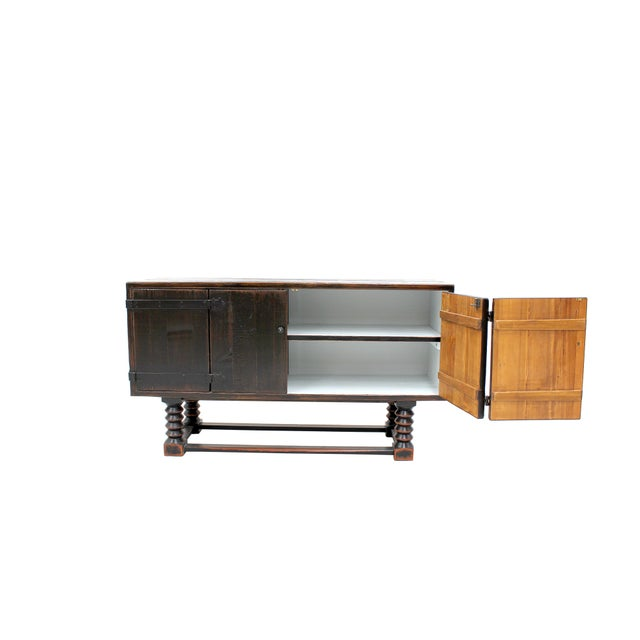 Image of Sarreid LTD Zimmerman Style Ebonized Sideboard