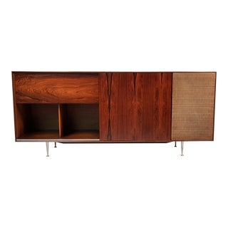 George Nelson Brazilian Rosewood Thin Edge Stereo Cabinet