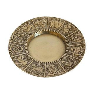 Chinese Zodiac Brass Dish
