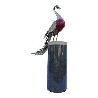 Antonio Pavia 1970's Italian Bird Floor Sculpture .