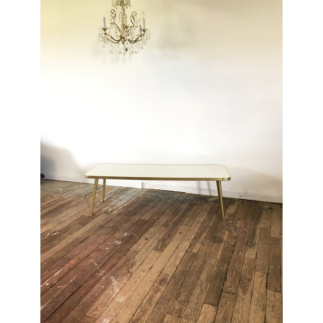 Mid-Century Brass & Formica Coffee Table - Image 5 of 8