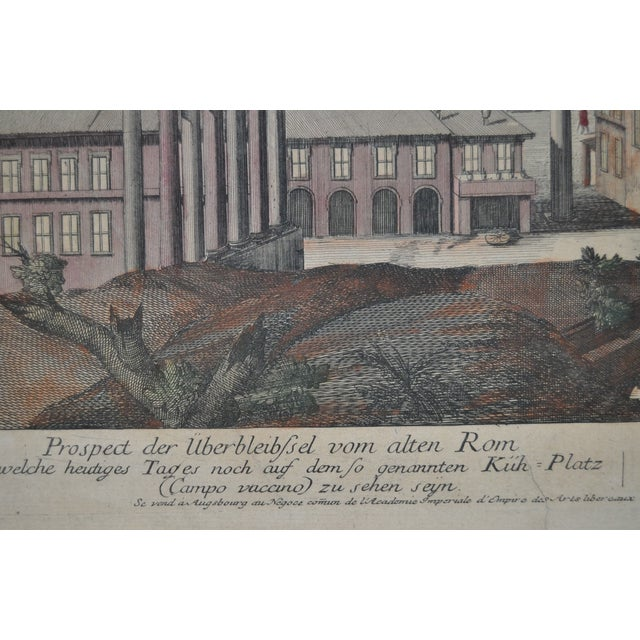 """Antique """"View of Rome"""" Engraving 19th Century - Image 6 of 11"""