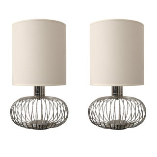 Banci Chrome Table Lamps - A Pair
