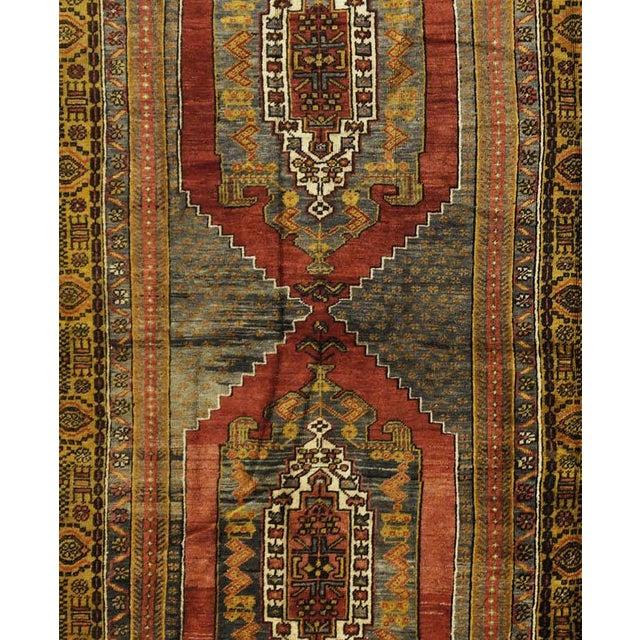 """Vintage Turkish Oushak Rug - 4'10"""" x 11'10"""" - Image 2 of 4"""
