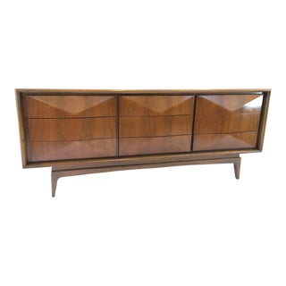 United Furniture Mid-Century Kagan Style Diamond Front Dresser