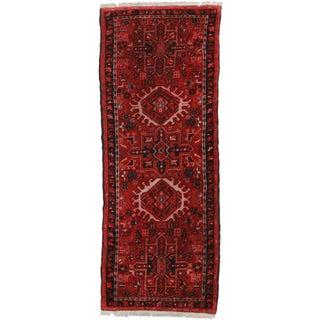 RugsinDallas Vintage Wool Persian Karajeh Runner- 2′3″ × 5′8″
