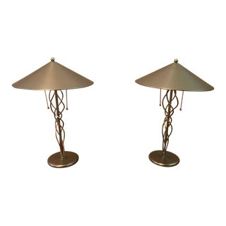 Minimalist Modern Table Lamps - A Pair