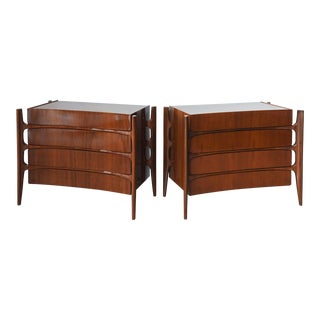 Sir Edmond Spence Pair of Swedish Modern Walnut Chests, 1950s