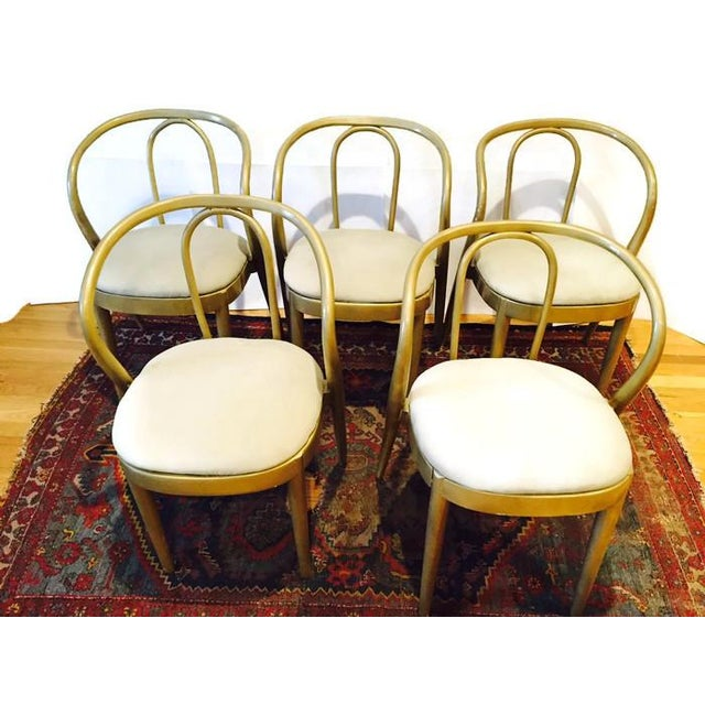 Vintage Modern Bentwood Dining Chairs - Set of 5 - Image 8 of 11