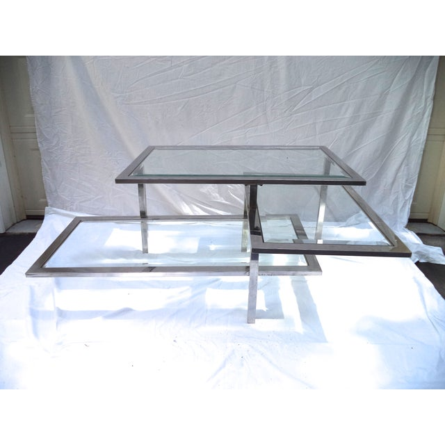 Mid-Century 3-Tiered Chrome Coffee Table - Image 4 of 4