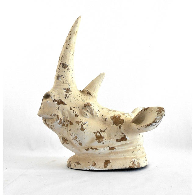 Rhinoceros Wall Bust Sculpture - Image 4 of 9