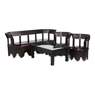 Riad Four-Piece Living Room Set Couch, Pair of Armchairs and a Coffee Table - Set of 4