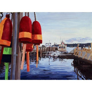 """Docked Buoys"" Painting Giclee by Josh Moulton"