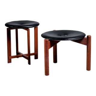 Pair of Osten & Uno Kristiansson stools for Luxus, Sweden, 1960s
