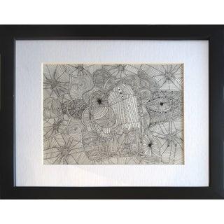 Alejandro Stein Pen & Ink Cow Drawing