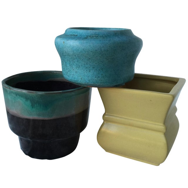 Pottery Planters - Set of 3 - Image 1 of 11
