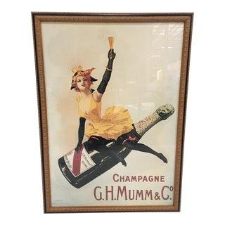 Framed Vintage Champagne Poster
