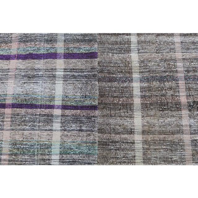 """Vintage Turkish Handmade Flatweave Rug - 6'5"""" X 8' - Image 3 of 5"""