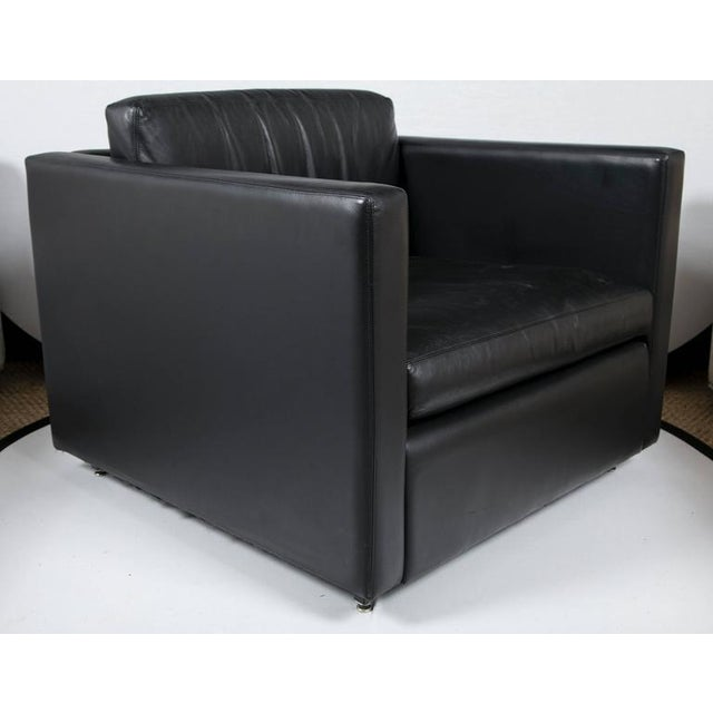 Pfister Lounge Chair in Black Leather - Image 4 of 7
