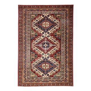 """New Traditional Hand Knotted Area Rug - 4'4"""" x 6'3"""""""