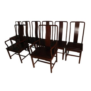 Late 19th Century Ming Style Rosewood Dining Chairs - Set of 8