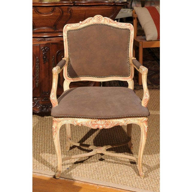 Louis XV Style Painted Bergere Chair - Image 7 of 7