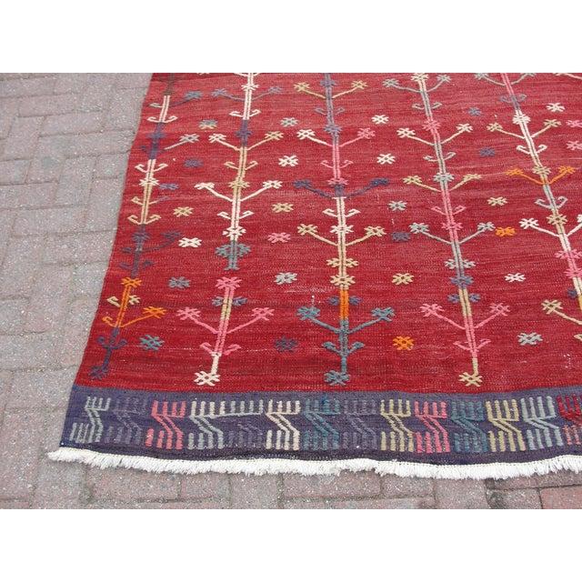 Vintage Turkish Kilim Rug - 5′6″ × 9′6″