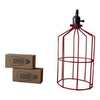 Vibrant Red Modern Pendant Lamp