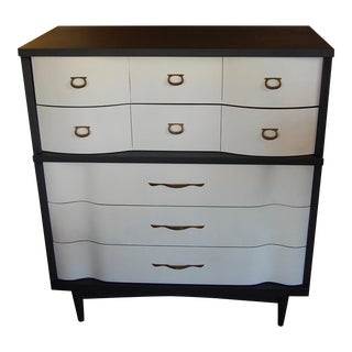 Mid-Century Gray & White Dresser