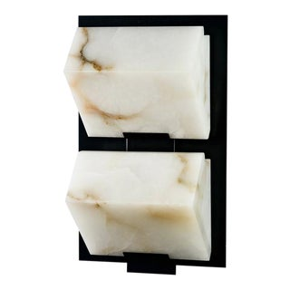 BLOCK double metal 145 wall sconce by Pierre CHAREAU
