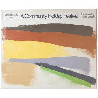 """1973 Friedel Duzbas """"Lincoln Center Presents A Community Holiday Festival"""" Serigraph Poster"""