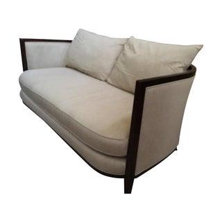 Modern Lexington Neutral Sofa/Settee W/ Wood Trim