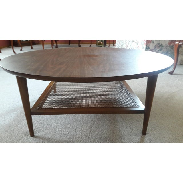 Lane 1960s Round Wicker Shelf Coffee Table Chairish