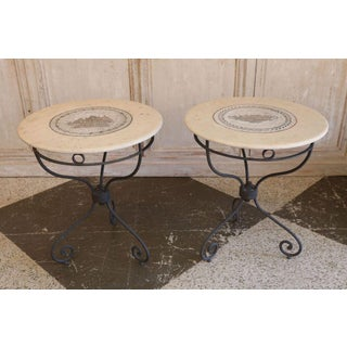 Pair of French Iron Tables