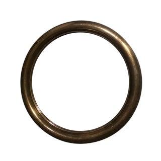 1960's Spanish Round Brass Mirror