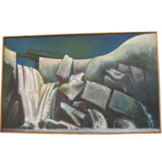 1992 Nocturne Oil Painting by George Shanton