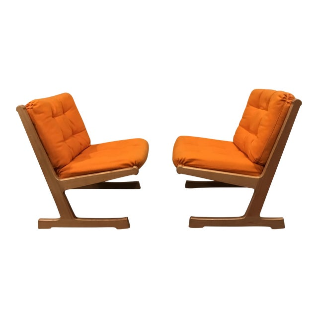 Danish Mid-Century Modern France and Son Siesta Easy Chairs - A Pair - Image 1 of 11