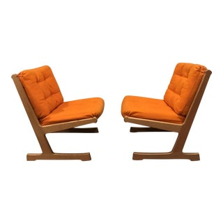 Danish Mid-Century Modern France and Son Siesta Easy Chairs - A Pair